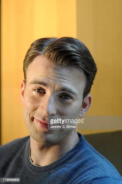 Actor Chris Evans is photographed for the Boston Globe on July 11 2011 in New York City Published Image