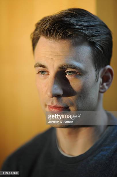 Actor Chris Evans is photographed for the Boston Globe on July 11 2011 in New York City