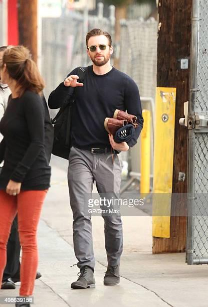 Actor Chris Evans is seen on November 24 2015 in Los Angeles