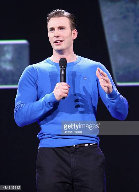 Actor Chris Evans of CAPTAIN AMERICA CIVIL WAR took part today in Worlds Galaxies and Universes Live Action at The Walt Disney Studios presentation...