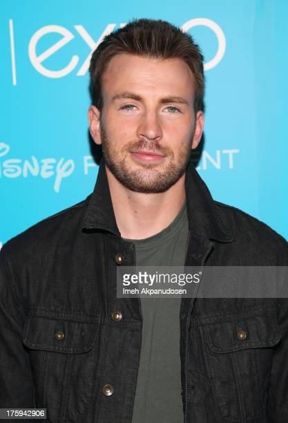 Actor Chris Evans of 'Captain America The Winter Soldier' attends 'Let the Adventures Begin Live Action at The Walt Disney Studios' presentation at...