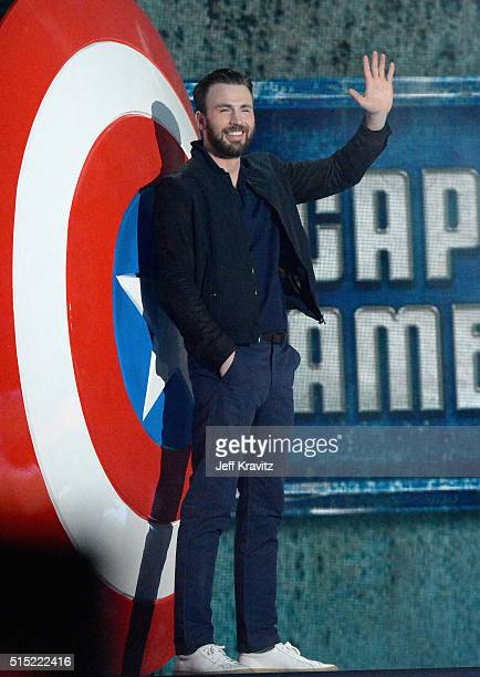 Actor Chris Evans onstage during Nickelodeon's 2016 Kids' Choice Awards at The Forum on March 12 2016 in Inglewood California