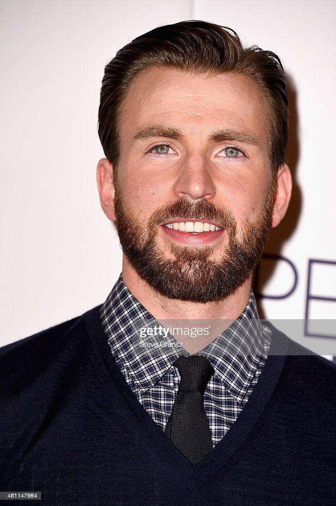 Actor Chris Evans poses in the press room at the 41st Annual People's Choice Awards at Nokia Theatre LA Live on January 7, 2015 in Los Angeles, California.
