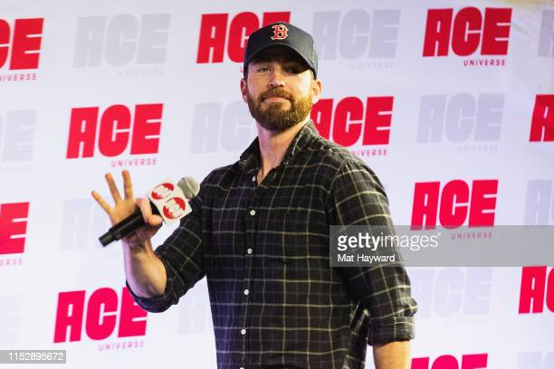 Actor Chris Evans speaks on stage during ACE Comic Con at Century Link Field Event Center on June 28, 2019 in Seattle, Washington.