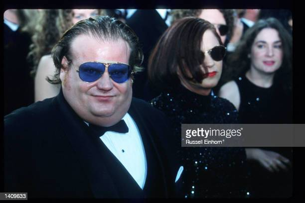 Actor Chris Farley arrives at the 69th Annual Academy Awards ceremony March 24 1997 in Los Angeles CA