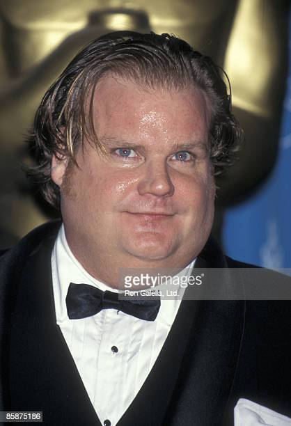 Actor Chris Farley attends 69th Annual Academy Awards on March 24 1997 at the Shrine Auditorium in Los Angeles California