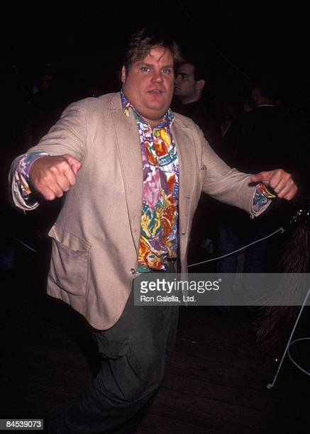 Actor Chris Farley attends the opening of Satuday Night Live New Season on September 28 1991 at Rockefeller Plaza in New York City