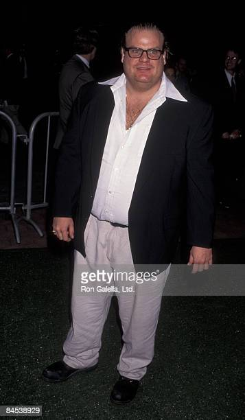 Actor Chris Farley attends the premiere of Happy Gilmore on February 7 1996 at the Cinerama Dome Theater in Universal City California