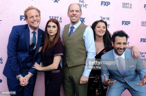 Actor Chris Geere actress Aya Cash creator/executive producer/showrunner/writer/director Stephen Falk actress Kether Donohue and actor Desmin Borges...