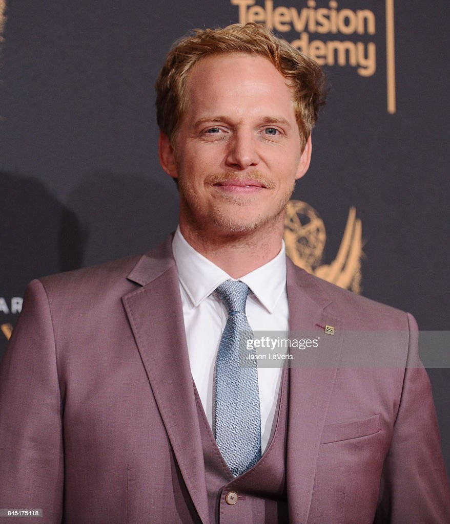 Actor Chris Geere attends the 2017 Creative Arts Emmy Awards at Microsoft Theater on September 10, 2017 in Los Angeles, California.