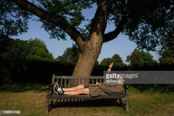 Actor Chris Hannon rehearses as the Park Bench Theatre make final preparations ahead of a performance of Samuel Beckett's 'First Love' during an open...