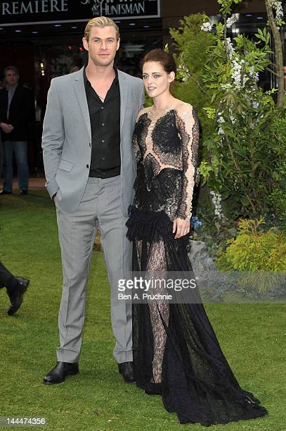 Actor Chris Hemsworth and actress Kristen Stewart attend the World Premiere of 'Snow White And The Huntsman' at The Empire and Odeon Leicester Square...