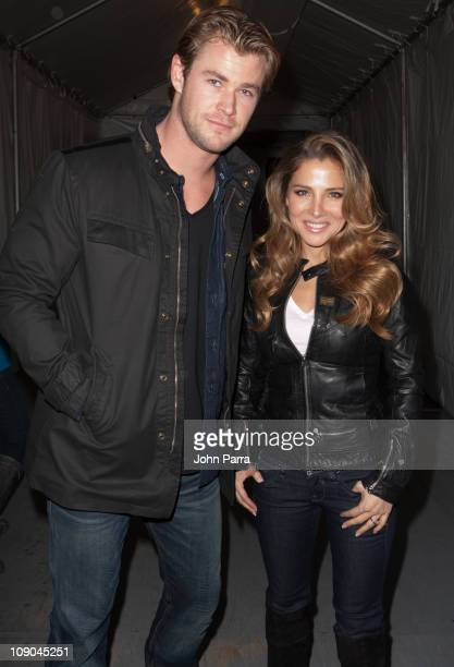 Actor Chris Hemsworth and Elsa Pataky is seen around Lincoln Center during MercedesBenz Fashion Week on February 12 2011 in New York City
