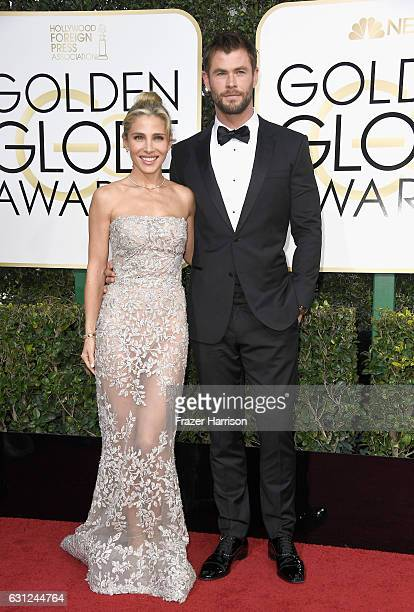 Actor Chris Hemsworth and model Elsa Pataky attend the 74th Annual Golden Globe Awards at The Beverly Hilton Hotel on January 8 2017 in Beverly Hills...