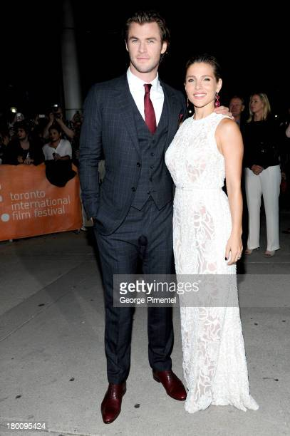 Actor Chris Hemsworth and wife Elsa Pataky attends the 'Rush' premiere during the 2013 Toronto International Film Festival at Roy Thomson Hall on...