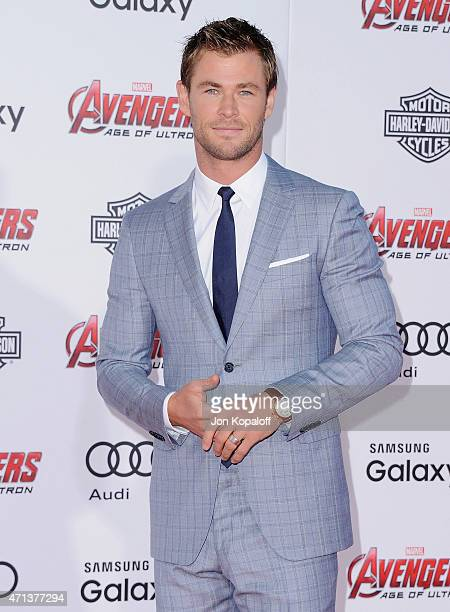 Actor Chris Hemsworth arrives at the Los Angeles Premiere Marvel's 'Avengers Age Of Ultron' at Dolby Theatre on April 13 2015 in Hollywood California