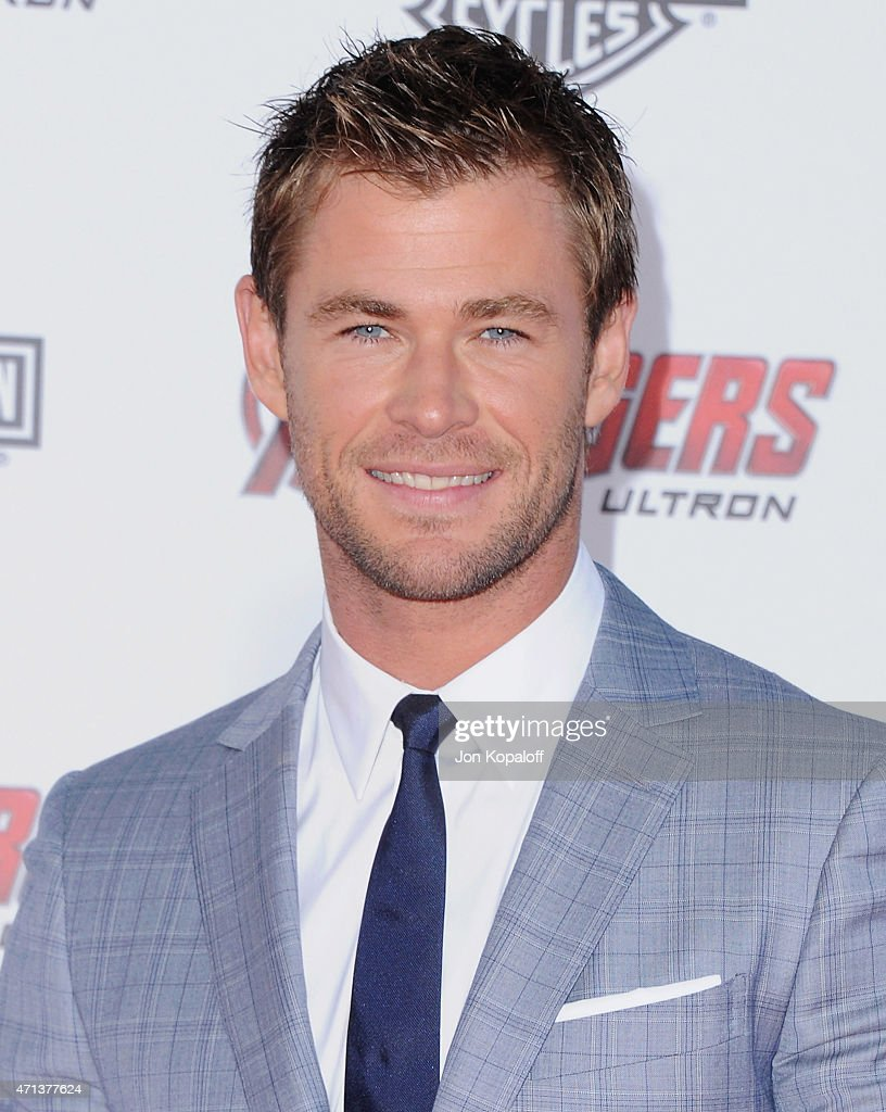 Actor Chris Hemsworth arrives at the Los Angeles Premiere Marvel's 'Avengers Age Of Ultron' at Dolby Theatre on April 13, 2015 in Hollywood, California.