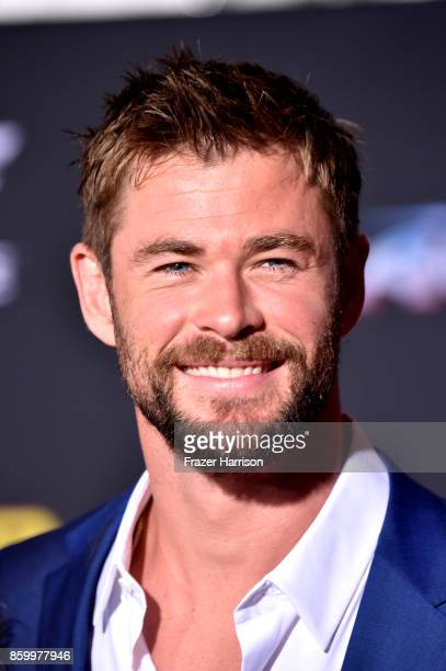 Actor Chris Hemsworth arrives at the Premiere Of Disney And Marvel's Thor Ragnarok Arrivals on October 10 2017 in Los Angeles California