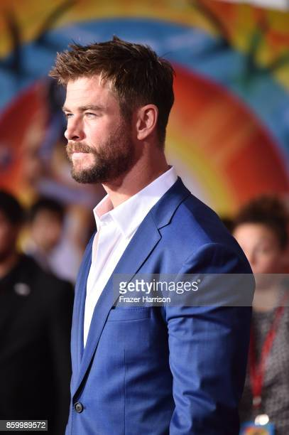 Actor Chris Hemsworth arrives at the Premiere Of Disney And Marvel's 'Thor Ragnarok' Arrivals on October 10 2017 in Los Angeles California