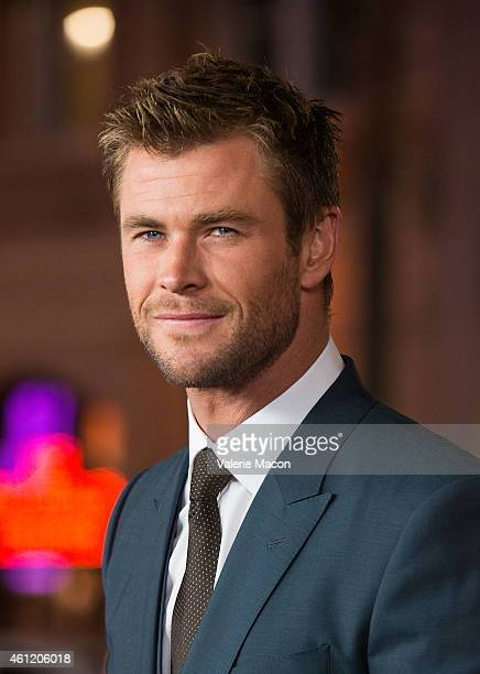 Actor Chris Hemsworth arrives at the Premiere Of Universal Pictures And Legendary Pictures' 'Blackhat' at TCL Chinese Theatre IMAX on January 8 2015...