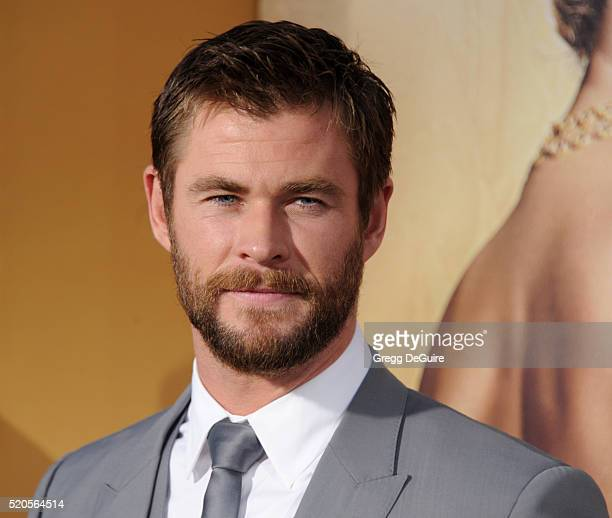 Actor Chris Hemsworth arrives at the premiere of Universal Pictures' 'The Huntsman Winter's War' on April 11 2016 in Westwood California