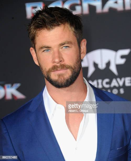 Actor Chris Hemsworth arrives for the Premiere Of Disney And Marvel's 'Thor Ragnarok' held on October 10 2017 in Los Angeles California