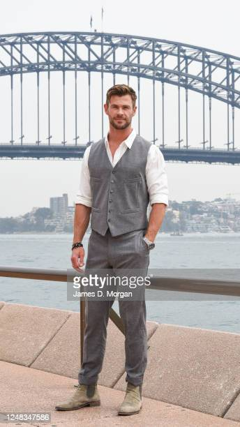 Actor Chris Hemsworth at the Sydney Opera House for the launch of the latest Tourism Australia campaign on October 30, 2019 in Sydney, Australia....