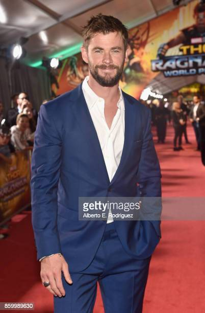 Actor Chris Hemsworth at The World Premiere of Marvel Studios' 'Thor Ragnarok' at the El Capitan Theatre on October 10 2017 in Hollywood California