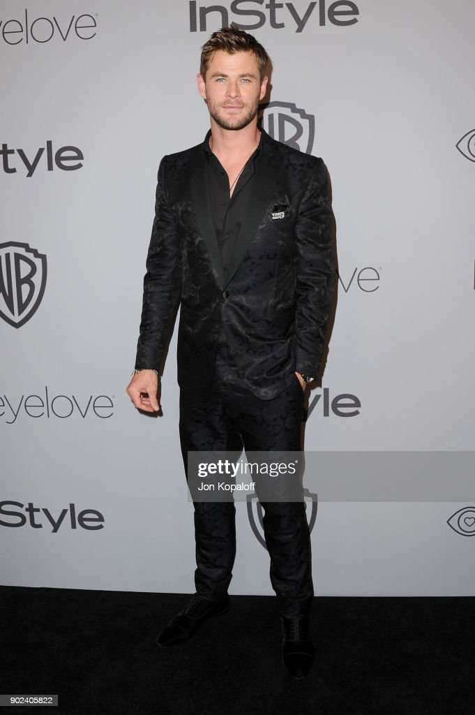 Actor Chris Hemsworth attends 19th Annual Post-Golden Globes Party hosted by Warner Bros. Pictures and InStyle at The Beverly Hilton Hotel on January 7, 2018 in Beverly Hills, California.