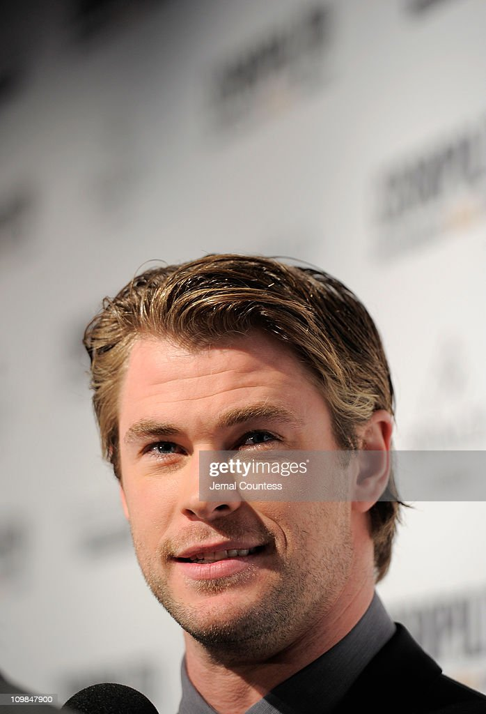 Actor Chris Hemsworth attends Cosmopolitan Magazine's Fun Fearless Males Of 2011 at The Mandarin Oriental Hotel on March 7, 2011 in New York City.