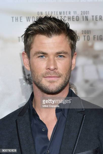 Actor Chris Hemsworth attends the 12 Strong World Premiere at Jazz at Lincoln Center on January 16 2018 in New York City