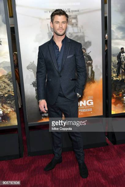"Actor Chris Hemsworth attends the ""12 Strong"" World Premiere at Jazz at Lincoln Center on January 16, 2018 in New York City."
