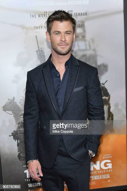 Actor Chris Hemsworth attends the '12 Strong' World Premiere at Jazz at Lincoln Center on January 16 2018 in New York City