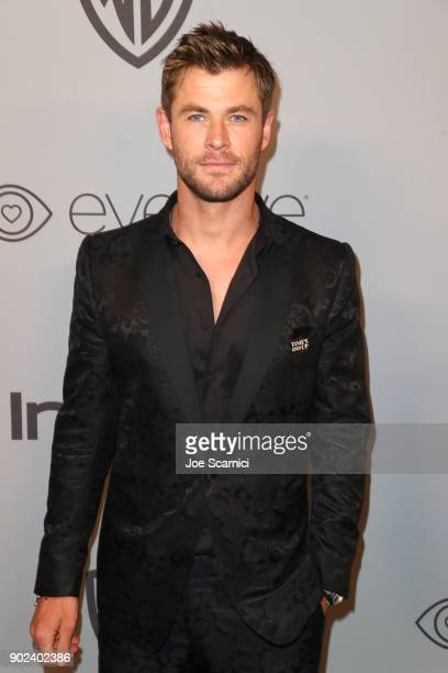 Actor Chris Hemsworth attends the 2018 InStyle and Warner Bros 75th Annual Golden Globe Awards PostParty at The Beverly Hilton Hotel on January 7...