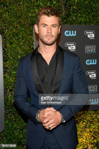Actor Chris Hemsworth attends The 23rd Annual Critics' Choice Awards at Barker Hangar on January 11 2018 in Santa Monica California