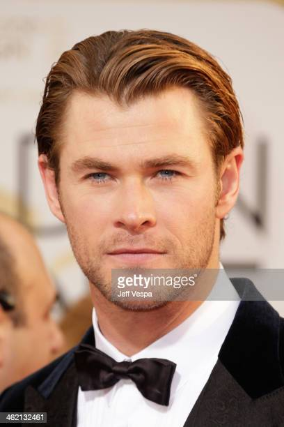 Actor Chris Hemsworth attends the 71st Annual Golden Globe Awards held at The Beverly Hilton Hotel on January 12 2014 in Beverly Hills California