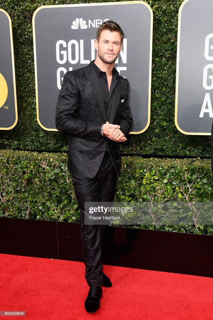 Actor Chris Hemsworth attends The 75th Annual Golden Globe Awards at The Beverly Hilton Hotel on January 7, 2018 in Beverly Hills, California.