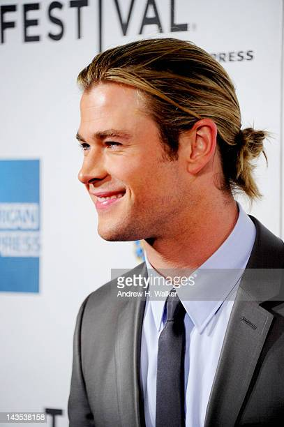 """Actor Chris Hemsworth attends """"The Avengers"""" Premiere, Closing Night Of The Tribeca Film Festival Sponsored By Bombay Sapphire on April 28, 2012 in..."""