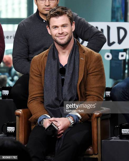 Actor Chris Hemsworth attends the Build Series to discuss '12 Strong' at Build Studio on January 16 2018 in New York City