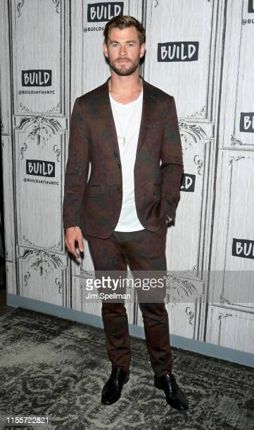 """Actor Chris Hemsworth attends the Build Series to discuss """"Men in Black: International"""" at Build Studio on June 13, 2019 in New York City."""