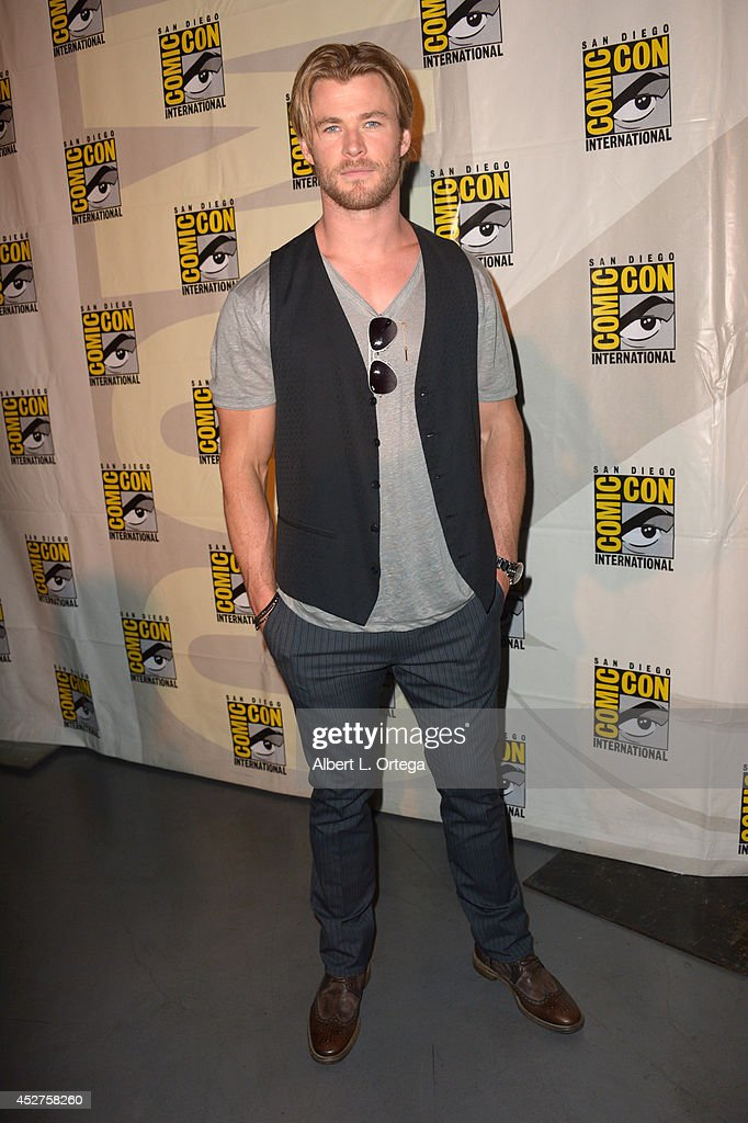 Actor Chris Hemsworth attends the Legendary Pictures preview and panel during Comic-Con International 2014 at San Diego Convention Center on July 26, 2014 in San Diego, California.