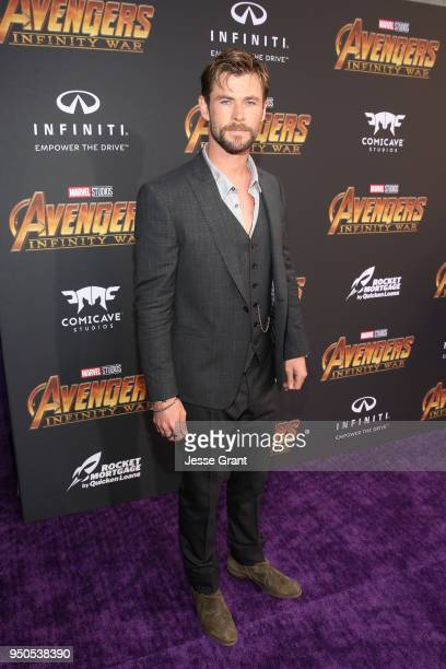 Actor Chris Hemsworth attends the Los Angeles Global Premiere for Marvel Studios' Avengers Infinity War on April 23 2018 in Hollywood California