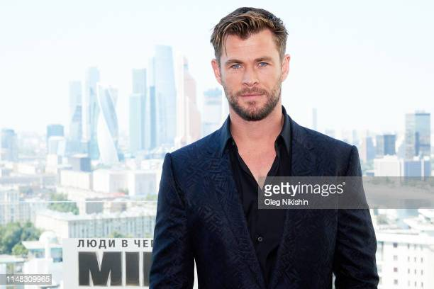 Actor Chris Hemsworth attends the Men in black International photocall at Kalina bar on June 6 2019 in Moscow Russia