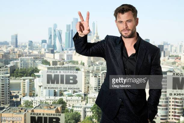 "Actor Chris Hemsworth attends the ""Men in black International"" photocall at Kalina bar on June 6, 2019 in Moscow, Russia."