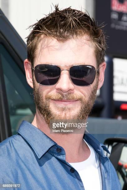 Actor Chris Hemsworth attends the Monaco Formula 1 Grand Prix at the Monaco street circuit on May 28 2017 in Monaco