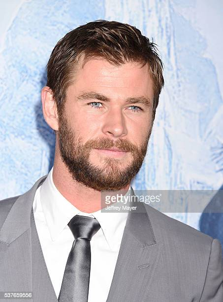 Actor Chris Hemsworth attends the premiere of Universal Pictures' 'The Huntsman Winter's War' at the Regency Village Theatre on April 11 2016 in...