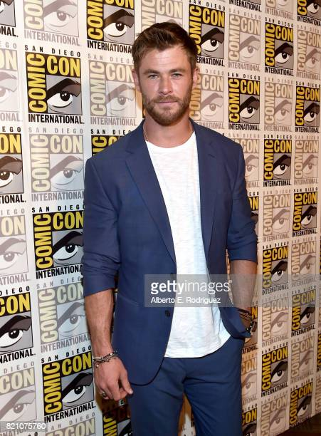 Actor Chris Hemsworth from Marvel Studios' 'Thor: Ragnarok' at the San Diego Comic-Con International 2017 Marvel Studios Panel in Hall H on July 22,...