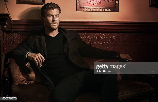 Actor Chris Hemsworth is photographed for Modern Luxury on January 1 2016 in Los Angeles California