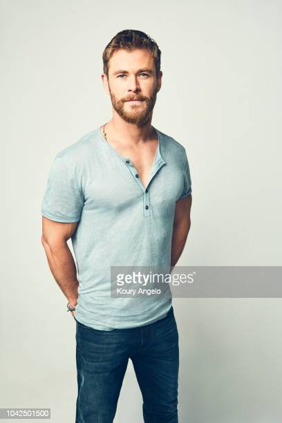 Actor Chris Hemsworth is photographed for People Magazine on July 25 2017 at D23 Expo in Los Angeles California
