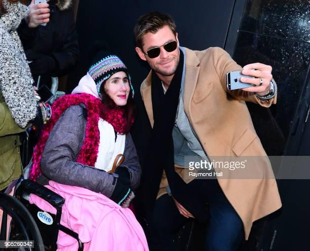 Actor Chris Hemsworth is seen leaving 'Good Morning America' on January 15 2018 in New York City